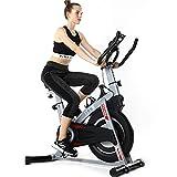 ISE Profi Indoor Cycle Ergometer Heimtrainer mit Pulsmesser,Armauflage,gepolsterte, Fitnessbike...
