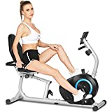 ANCHEER Magnetisches Liegerad, Fahrradgerät Stationäres Indoor Cycling Fitnessgerät für das...