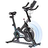 ANCHEER Heimtrainer,Indoor Cycling Bike Fitnessbike Riemenantrieb mit APP-Anschluss, Einstellbarer...
