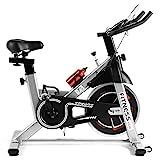 Fitnessclub Heimtrainer Fahrrad Spinning Bikes mit 12KG Schwungrad, Indoor Cycling Bike mit...