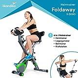 skandika Fitnessbike Foldaway X-3000 X-Bike, F-Bike mit Lehne, Ergometer Fahrrad, klappbarer...