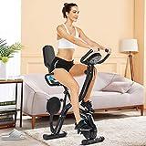Klapp-Heimtrainer, Indoor-Bike, stationäres Fahrrad mit 10-stufigem einstellbarem Magnetwiderstand,...