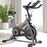 ANCHEER Heimtrainer Fahrrad - Indoor Cycling Bike, stationäres Fahrrad mit bequemem Sitzkissen für...