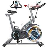 ANCHEER Heimtrainer, 49LBS Indoor Cycling Bike Fitnessbike Mit Herzfrequenzmonitor & LCD Monitor,...