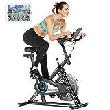 ANCHEER Heimtrainer Fahrrad 120 kg belastbar,Indoor Cycling Fitnessbike mit...